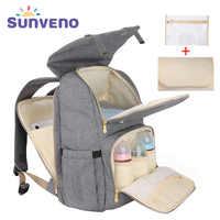 SUNVENO nouveau sac à couches mode sac à dos grande capacité bébé sac Nappy sac pour les soins de bébé