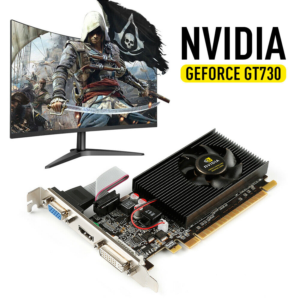 US GT730 2GB GDDR3 64bit PCI-E Gaming Video Graphics Card for GeForce