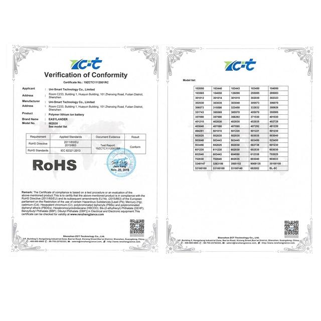 306070 3.7V 2000mAh akumulator bateria litowo-polimerowa do PSP PDA GPS DVR E-Book Tablet moc PC Bank Wexler książka E6005 356070