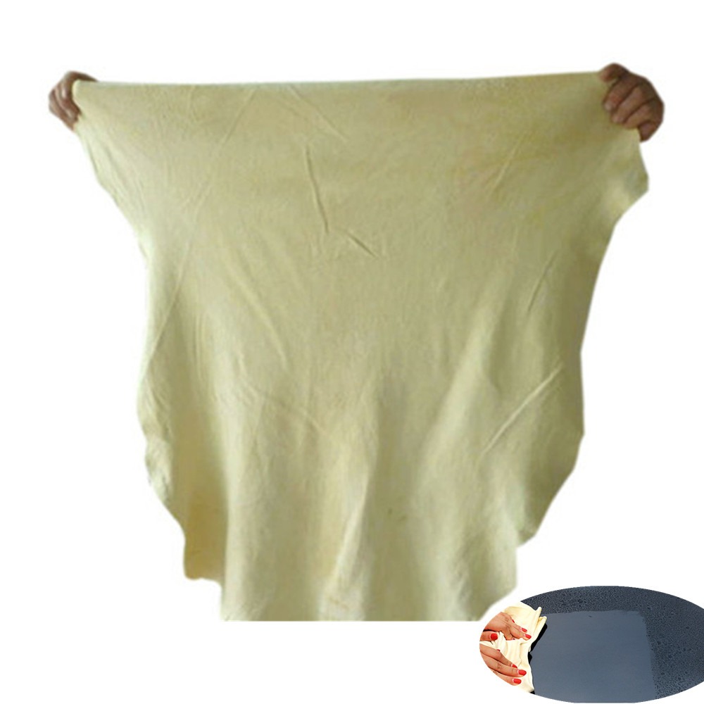 Natural Chamois Leather Car Cleaning Cloth Genuine Leather Wash Suede Absorbent Quick Dry Towel Streak Free Lint Free Shipping