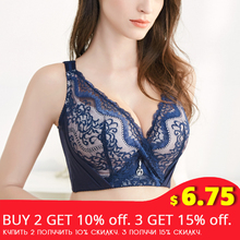 FallSweet Plus Size Bras for Women Sexy Lace Brassiere Push Up Underwire Lingerie