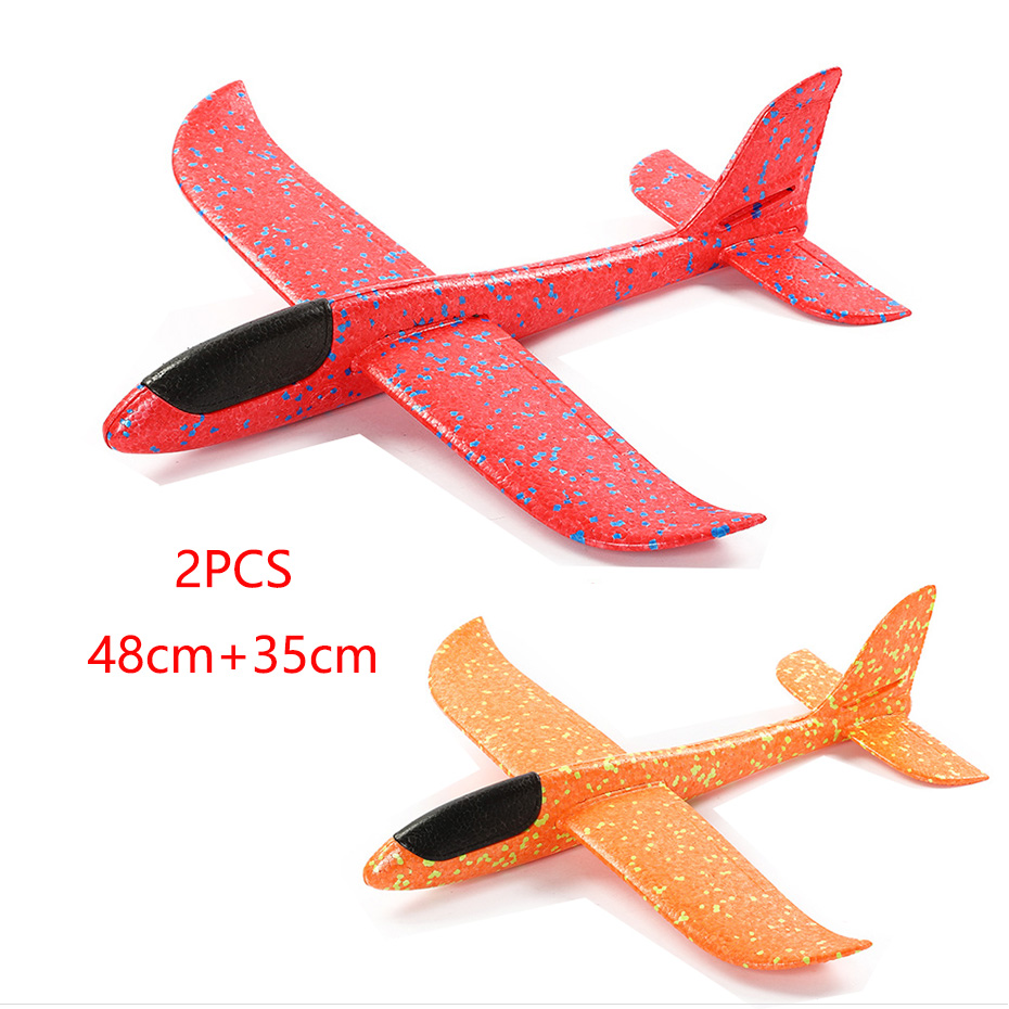 Children Toy Hand Throw Airplane Kid Outdoor Sport EPP Flying Glider Model Large Foam Aircraft Resistant Breakout Plane