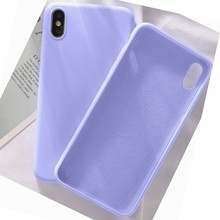 XINKSD Silicone Phone Case For iPhone X 7 8 6 6S Plus Soft TPU Candy Color Shockproof Case For iPhone XS XR Xs Max 11 Pro Max(China)
