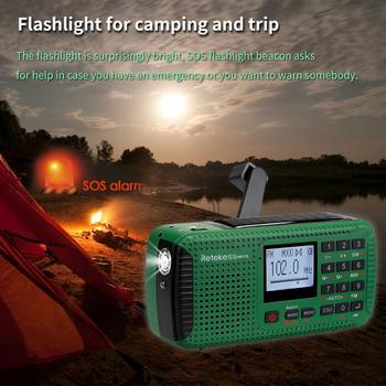 Портативный радиоприемник RETEKESS HR11S Bluetooth FM/MW/SW MP3 5