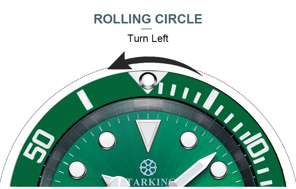 automático-data luminoso relógio de pulso rolexable