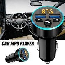 Bluetooth 5.0Handsfree Car Kit 3.1A Quick Dual USB Charger FM Transmitter Wireless Radio Audio Adapter Rgb Lights 2 USB