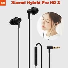 Xiaomi Mi Hybrid Pro HD 2 auriculares dentro de la oreja Control con cable Doble controlador con micrófono para Redmi Note 5 plus Mi 8