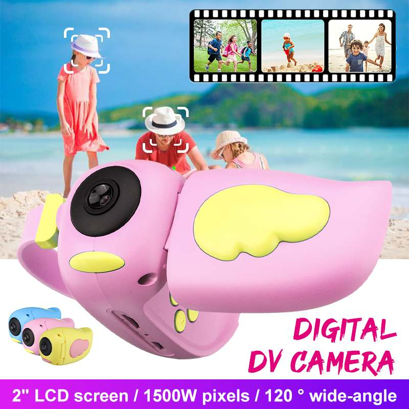 1500W Pixels Toy Camera Mini Children's Digital DV Camera Cute Cartoon Camcorder Video For Children Kids Gift For Boys Girls
