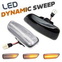 2pc led dinâmico turn signal light fender frente lado marcador lâmpadas para volvo s80 xc90 xc70 v70 s60 2001-2009 #30722641/3072264