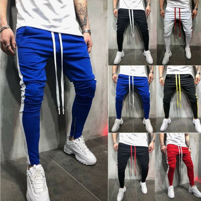 Men Sports Jogger Pants Long Slacks Sport Gym Workout Hip Hop Casual Trousers Pants