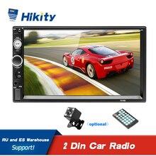 Hikity راديو السيارة متعدد الوسائط MP5 مع شاشة تعمل باللمس ، مستقبل استريو عالمي 7 بوصة ، 2 Din ، Bluetooth ، FM ، AUX ، USB ، SD