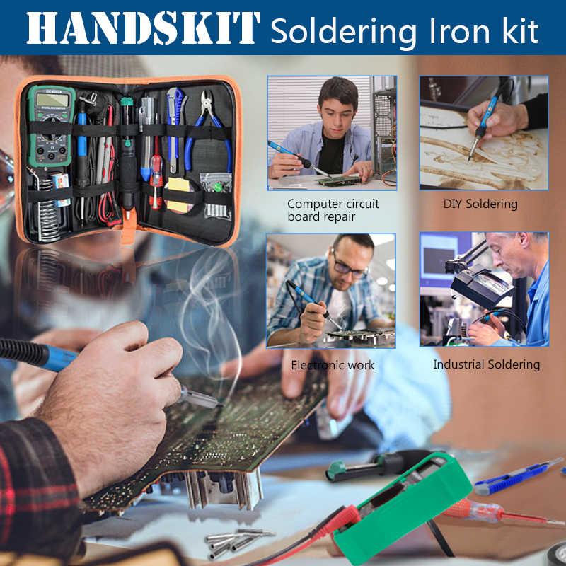 Handskit 80 ワットデジタルはんだごてキット温度電気はんだごて 110 v 220 v マルチメータ desoldeirng ポンプ溶接ツール