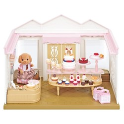 Semipkg الأطفال عائلة سيلفانيان لعبة على غرار كعكة متجر لعب الفتيات مجسم لمنزل دمية لعبة 5263