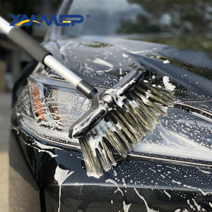 Image 5 - Car Wash Brush Water Flow Car Brush Replaceable Heads Truck Tire Cleaning Handle Brush Windows Car Cleaning Tools Xammep
