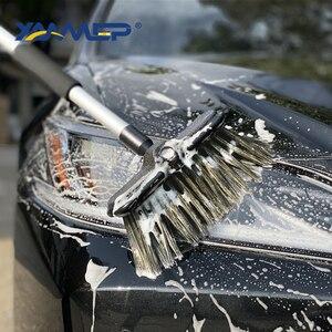 Image 5 - Szczotka do mycia samochodu przepływu wody czyścik samochodowy wymienne głowice opona do ciężarówki do czyszczenia uchwyt szczotki Windows przyrządy do czyszczenia samochodu Xammep