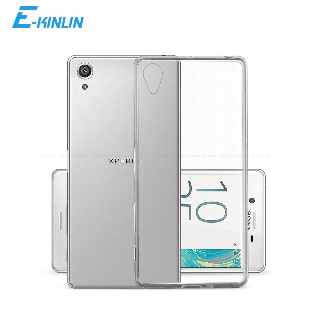 Temizle Yumuşak Silikon TPU Kılıf Kapak Sony Xperia 1 5 10 II XZ3 XZ2 XZ X XA XA1 XA2 Artı Ultra L1 L2 L3 Z3 Z4 Z5 XZ1 Kompakt