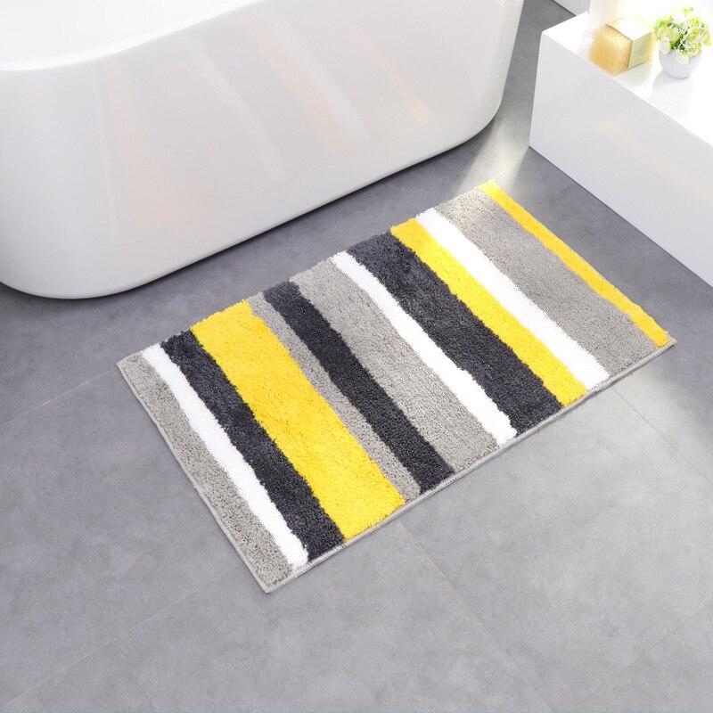 Microfibre rayé salle de bain tapis haute qualité absorption d'eau tapis de bain multi-fonction antidérapant salle de bain tapis tapis salle de bain