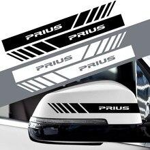 2 pçs espelho retrovisor do carro adesivo decoração decalques para toyota C-HR rav4 camry avalon avensis prado prius acessórios