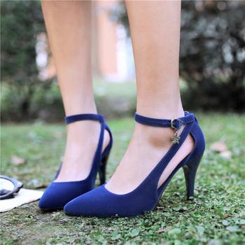 Klasyczne damskie obcasy buty eleganckie czółenka damskie buty moda czerwone fioletowe buty na obcasie kobieta biuro wesele buty duży rozmiar tanie i dobre opinie ZOGEER Podstawowe Cienkie obcasy Flock Super Wysokiej (8cm-up) Pasuje prawda na wymiar weź swój normalny rozmiar sexy