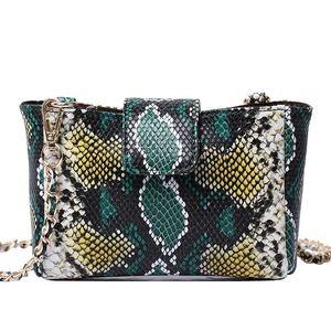 Image 3 - Fashion Women Python Pattern Leather Handbag Embossed Python Leather Shoulder Bag Summer Party Trendy Purse Bag