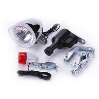 3-in-1 Bike Lights Set Cycling Dynamo Safety No Batteries Needed Front Rear Light Cycling Accessories