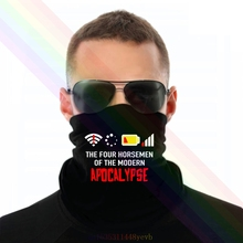 Scarf-Bandana Headband Internet Neck-Warmer Apocalypse Wlan Funny Battery-Off Unisex