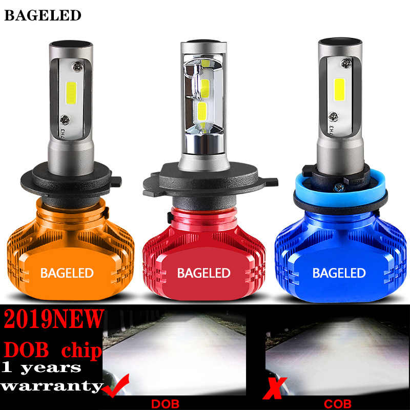 BAGELED 2Pcs LED H11 Lamp H4 Led H7 H1 H3 Car Headlight Bulbs For Auto 9005 9006 H27 881 HB3 HB4 Led Automotive 12V 50W 8000LM