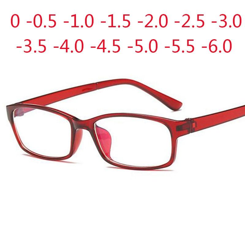 0-0,5-1-1,5-2-2,5-3-3,5-4 -5 -6 fertig Myopie Gläser Männer Kurze-anblick Brillen Blau Beschichtet Frauen Dioptrien Brillen