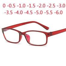 0-0,5-1-1,5-2-2,5-3-3,5-4 -5 -6 gafas graduadas para miopía corta de los hombres-gafas de vista azul de las mujeres gafas de dioptrías