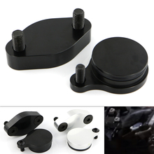 Fit For LS truck EGR Motorcycle Accessories Smog Block Off Plate Plates Cover CNC Billet Aluminum Black Silver 1 Pair