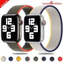 Cinta de laço de náilon para apple relógio banda 44mm 40mm 42mm 38mm cinto smartwatch correia correa pulseira iwatch série 4 5 se 6 pulseira