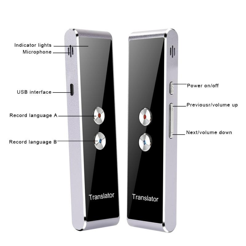 T8 Instant Voice Translator Mini Portable Wireles Intelligent Interpreter 33 Languages Language 1.5S Simultaneous Interpretation