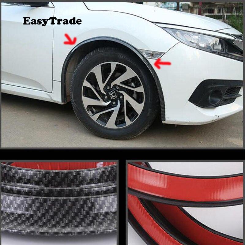 6M 4 pièces voiture garde-boue Flare Extension roue sourcil protecteur lèvre garniture voiture pneus roue sourcil arc résistant aux rayures universel