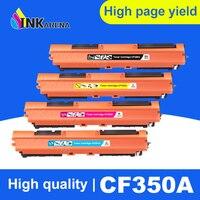 INKARENA 4 اللون متوافق CF350A CF351A CF352A CF353A 130A خرطوشة حبر ل طابعة ليزر ألوان إتش بي برو MFP M176n M176 M177fw