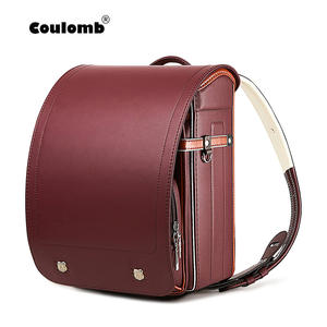 Coulomb Backpack Orthopedic School-Bag Japanese Girl Waterproof Kid Hasp PU Solid