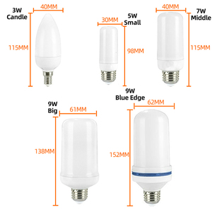 Image 5 - LED E27 Flame Bulb 3W 5W 7W 9W Corn Bulb Creative Flickering LED Light Dynamic Flame Effect 110V 220v E14 Lighting Lamp for Home