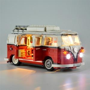 Image 2 - 2020 جديد legoinglys 1354 قطعة 10220 كتل تكنيك سلسلة Volkswagen T1 شاحنة التخييم نموذج بناء مجموعات مجموعة الطوب اللعب 21001