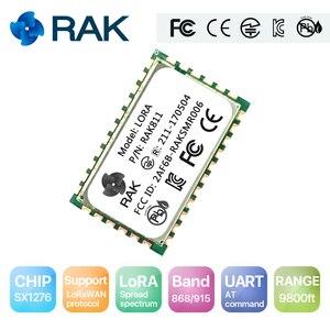 Модуль Lora RAK811 с низким энергопотреблением, модуль беспроводной связи UART к последовательному по команды, частота LORAWAN Protocol 868/915 MHZQ107
