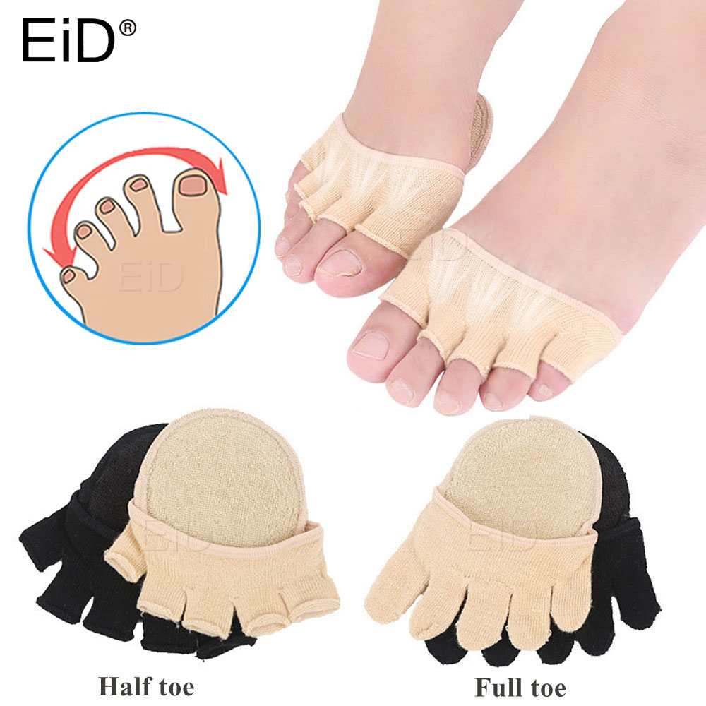 Cotton Forefoot Pad For Hallux Valgus Bunion Pain Relief Foot Pain Thumb Separator Socks Orthopedic Toes Inserts Half Yard Pads