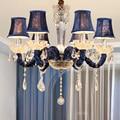 Современная хрустальная люстра  украшение дома  E14  лампа  люстры для кухни  столовой  спальни  люстра  светильник с абажуром
