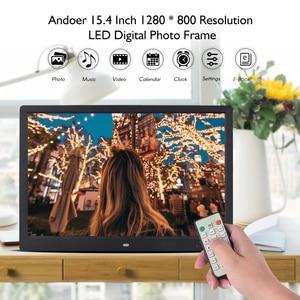 Image 3 - Andoer 15,4 Inch 1280*800 светодиодный цифровая фоторамка рамки 1080P HD видео игры с пультом дистанционного управления Управление музыка кино электронная книга