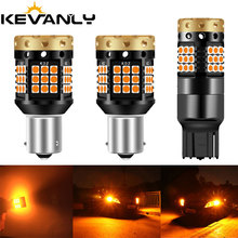 2pc CANBUS BAU15S PY21W BA15S P21W led 7440 W21W 3030 led 36 45 smd Car Reserve Lamp turn signal drl Light No error Amber 12 24v