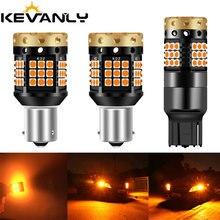 CANBUS BAU15S PY21W BA15S P21W led 7440 W21W 3030 led 36 45 smd, lampe de réserve de voitures, clignotant, lumière drl, sans erreur ambre 12 24v, 2 pièces