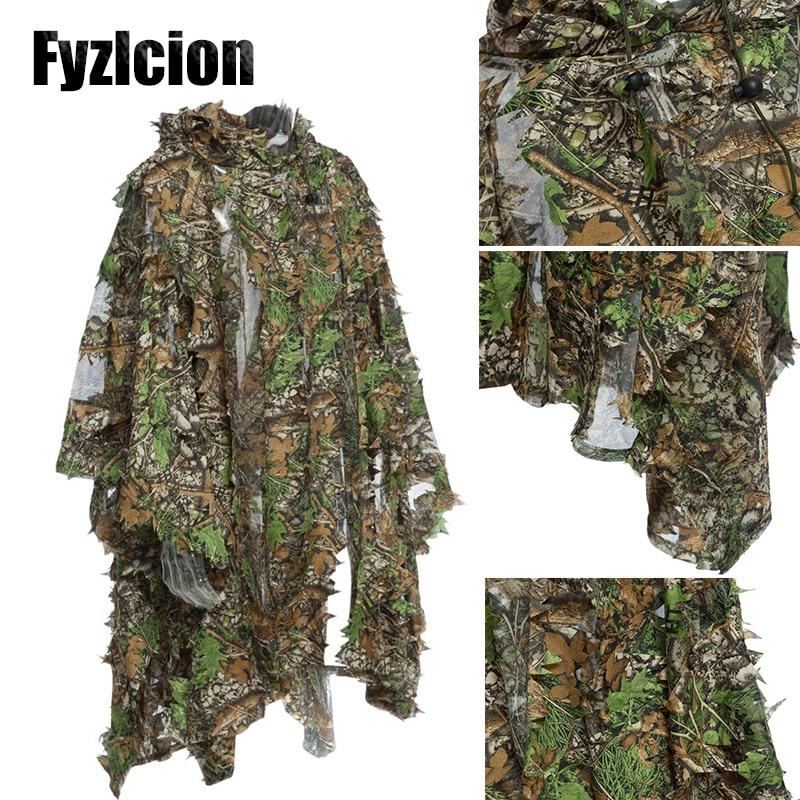 Forest Color Fit Large /& X-Large Size Burlap Ghillie Suit Woodland Camo