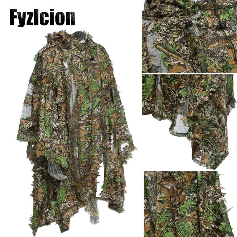 Caccia Camouflage Woodland Foresta Sniper Ghillie Suit Kit 3D Camouflage Jungle Camo