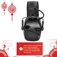Cache-oreilles de tir électronique sports de plein air tactique d'amplification anti-bruit casque de protection auditive de chasse pliable