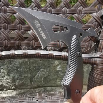 CS Tactical Axe Tomahawk Army polowanie maczeta osie ręka ogień topór topór topór lód topór nóż do przetrwania na zewnątrz Camping i EDC tanie i dobre opinie Doom Blade Woodworking Aluminum handle plus oxidation STAINLESS STEEL 8CR15MOV Scyzoryk wielofunkcyjny