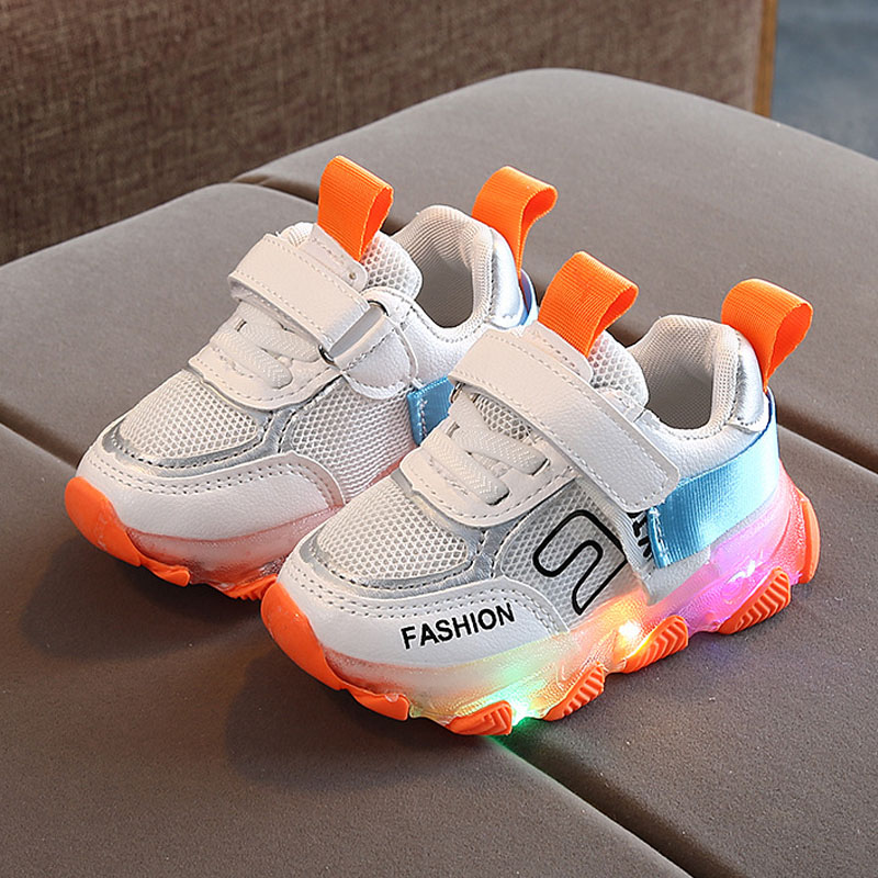 Kids Boy Led Shoes Toddler Light Running Sneakers Shoes Breathable Comfortable Basket Girl Tenis Led Sneakers