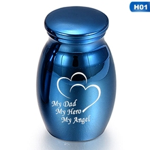 For Human Pet Memorial Urns Blue Human Ashes Keepsake Angel Wings Memorial Urn Mini Cremation Urns Ashes Holder