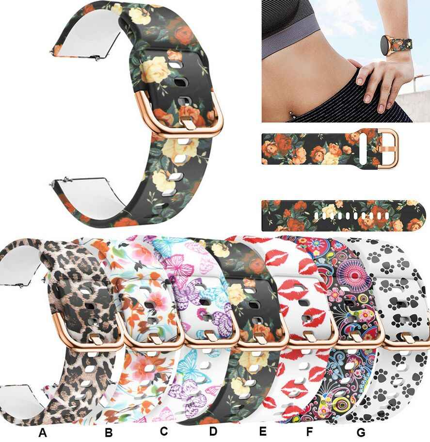 Bracelet pour montre Samsung Galaxy, sport, Active 2, 40, 44mm, 20mm, samsung active2 3 42mm